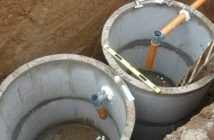 Септик из бетонных колец: устроство, схема, установка + монтаж
