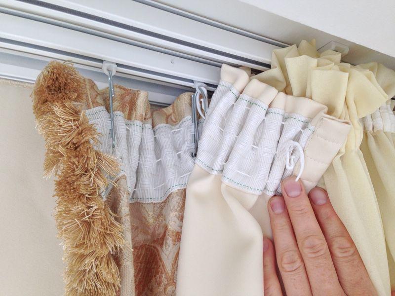 Как правильно пришивать шторные ленты к тюлю и шторе