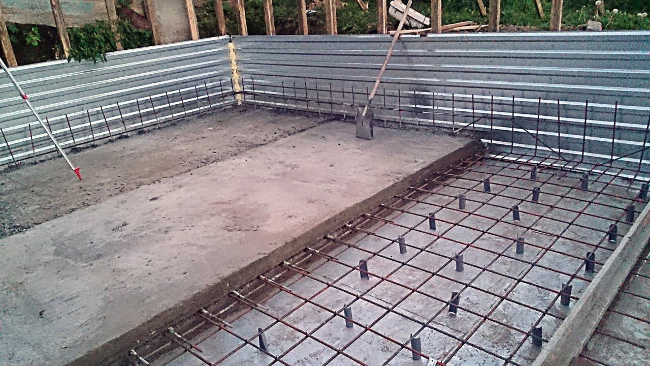 Армирование монолитной фундаментной плиты: технология устройства