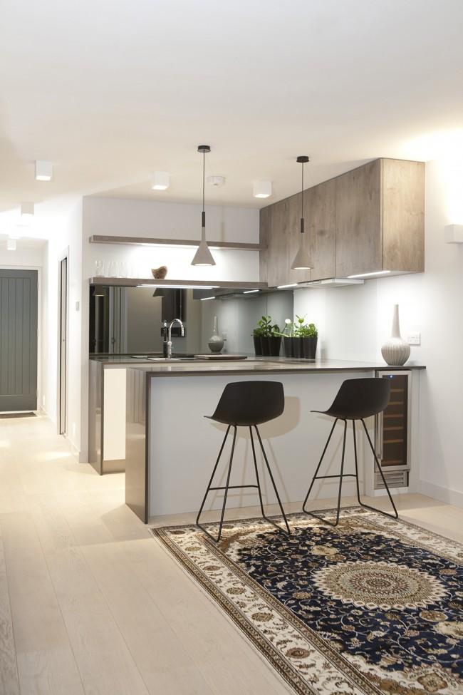 Дизайн кухни-студии в квартире - фото примеров