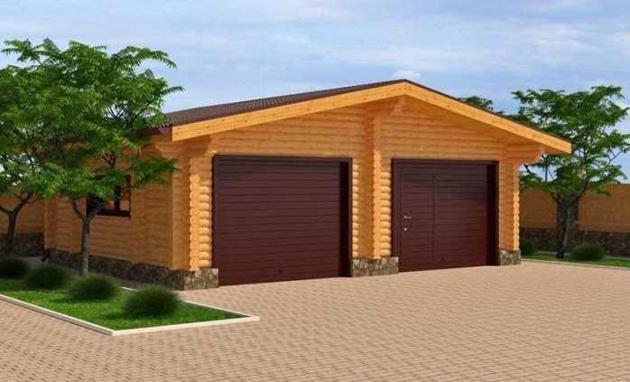 Как построить гараж своими руками из бруса — практические рекомендации. гараж из бруса 6 на 4