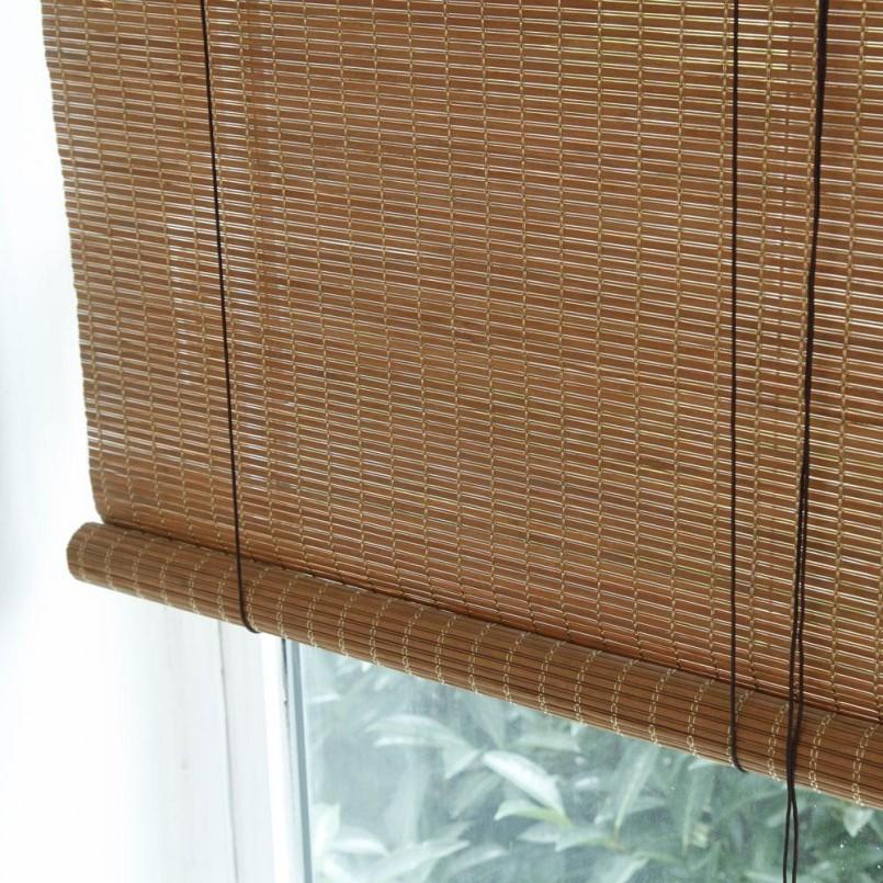 Бамбуковые шторы — особенности конструкций и правила использования в дизайне (106 фото)
