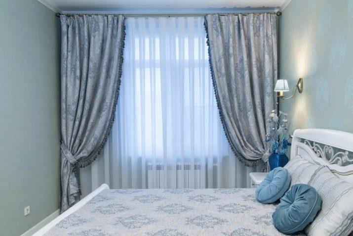 голубые шторы фото