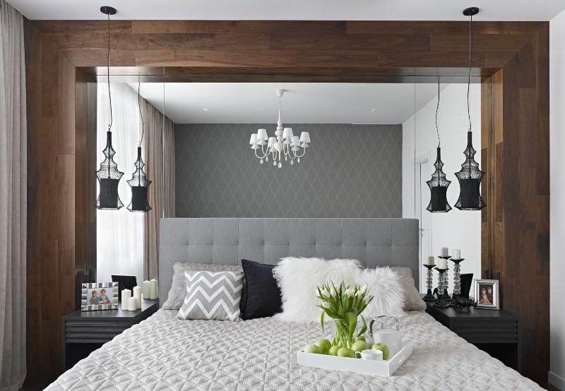 Оформление окна в спальне (53 фото): дизайн окна, как оформить шторами, декор и подоконник-стол