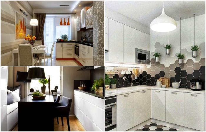 Кухонный гарнитур для маленькой кухни: фотообзор