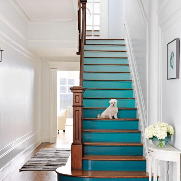 как покрасить лестницу