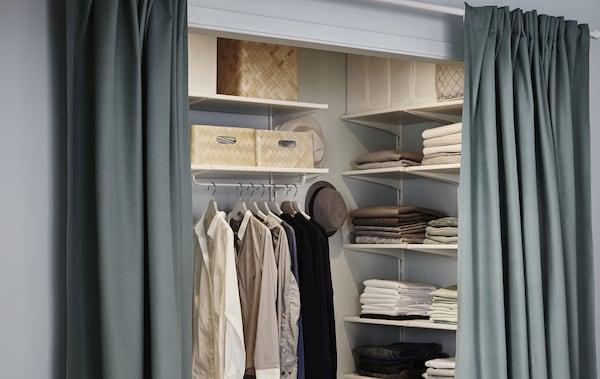 Гардеробные икеа - лучшие идеи оформлоения гардеробной от ikea в современном стиле (45 фото)