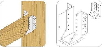 Опора для бруса: закладная, открытая, закрытая, скользящая, забивная