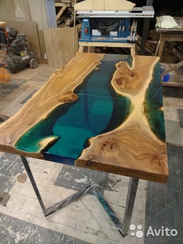 изготовление столов из эпоксидной смолы