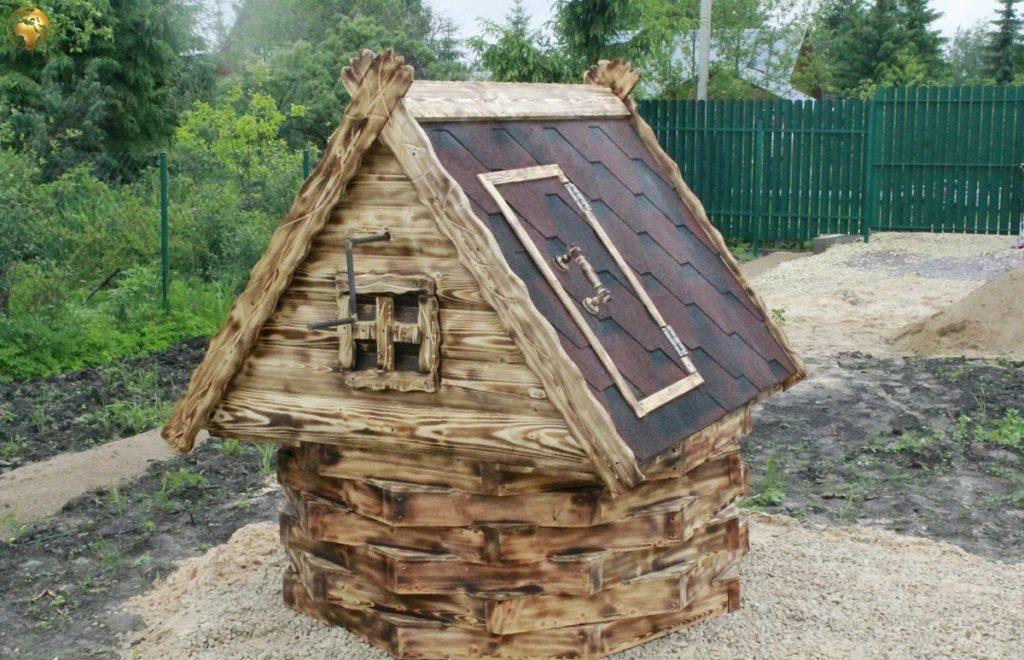 Декоративный колодец (73 фото): как сделать вариант из дерева для сада на даче своими руками - пошаговая инструкция, идеи изготовления из бревен и колес