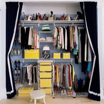 минимальная ширина гардеробной