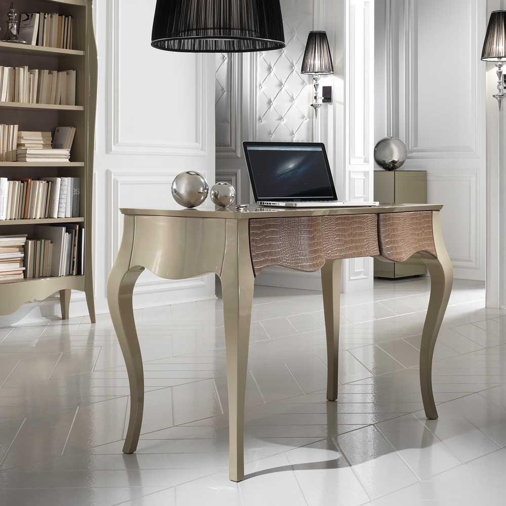 Современные письменные столы: дизайн модных изделий для дома в современном стиле и глянцевые модели с комодом из италии и от других призводителей