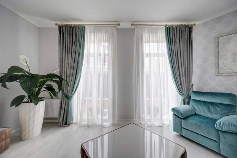 модные шторы для зала 2018
