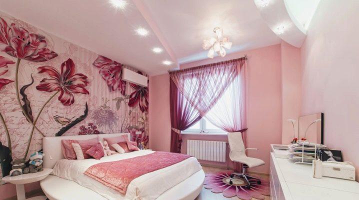 розовые обои для стен