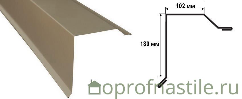 торцевая планка для металлочерепицы размеры
