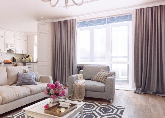 Дизайн штор для зала: стили и новинки 2019 года с фото