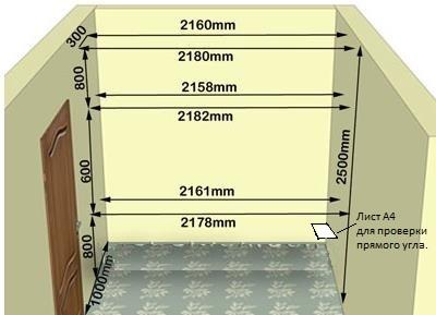 Шкаф-купе, проект для составных частей, замеры, сборочные чертежи