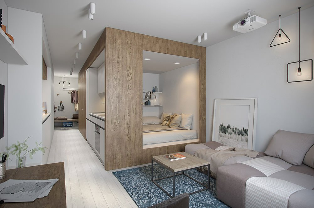 Дизайн 2-комнатной квартиры площадью 42 кв. м: идеи оформления интерьера