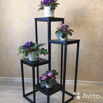 Подставка для цветов напольная высокая деревянная своими руками