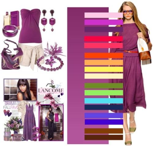 Фиолетовый цвет в одежде, сочетание — 220 фото