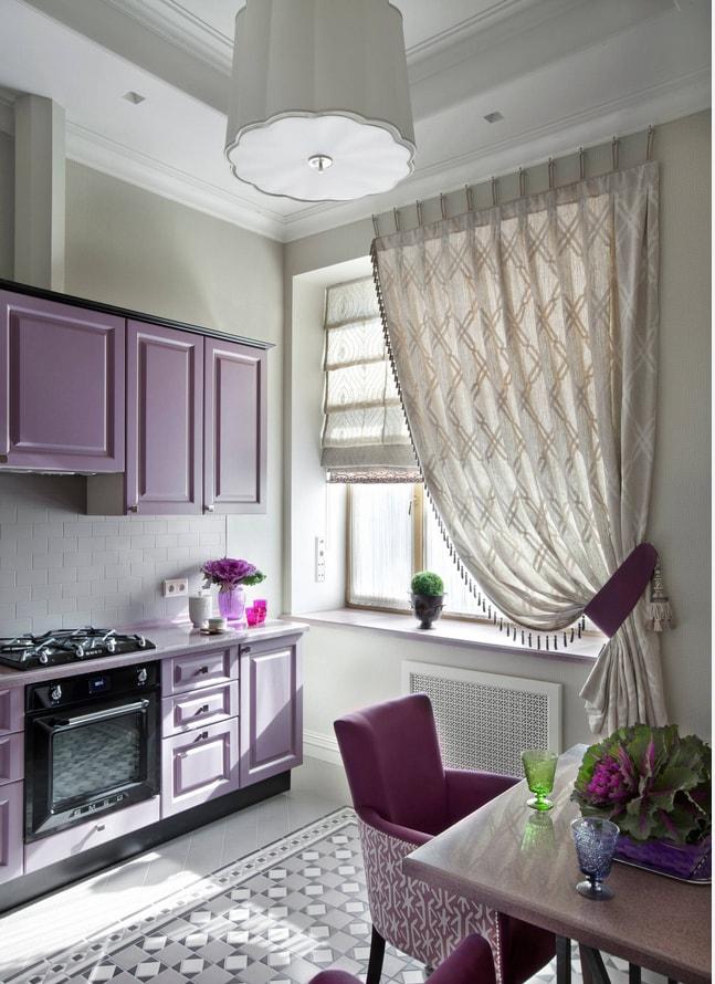 стильные шторы на кухню фото 2018