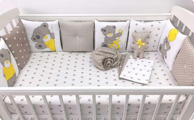 бортики в кроватку для новорожденных для девочки