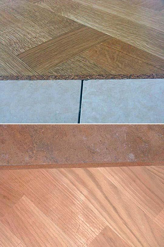 Пробковый компенсатор между плиткой и ламинатом: жидкая пробка для стыков, использование пробкового герметика