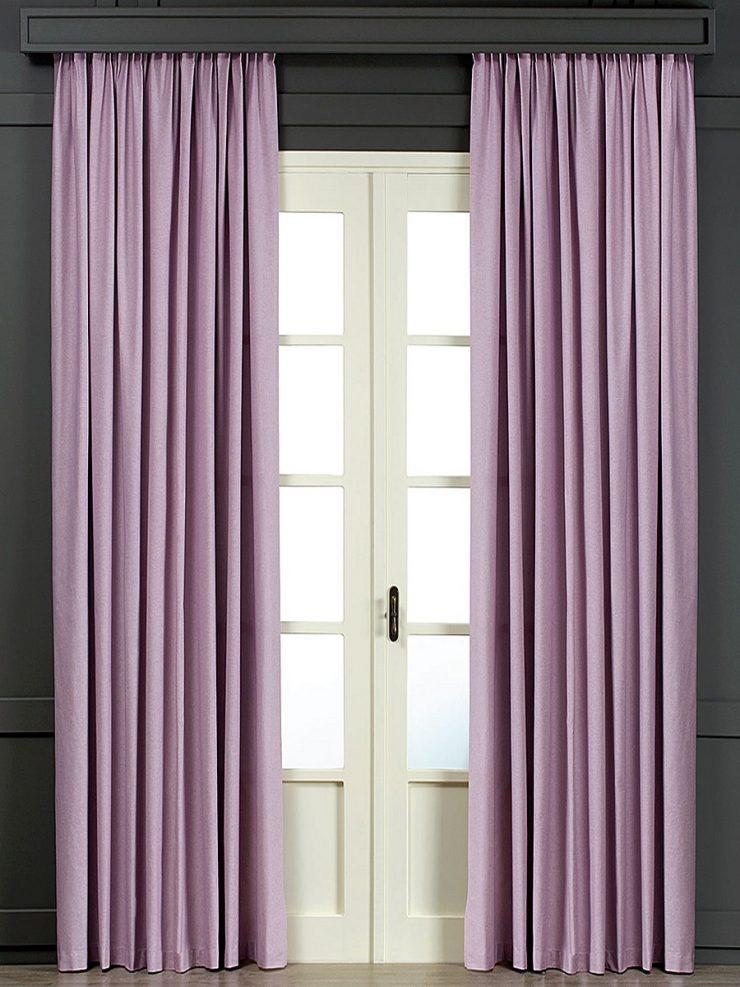 сиреневые шторы в зал