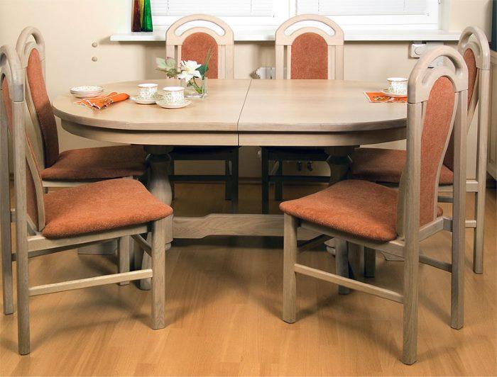 Круглый стол на кухню: топ-130 фото и видео вариантов круглых столов на кухне. разновидности материалов и габаритов. раскладные столы на кухне. выбор диаметра круглого стола для кухни