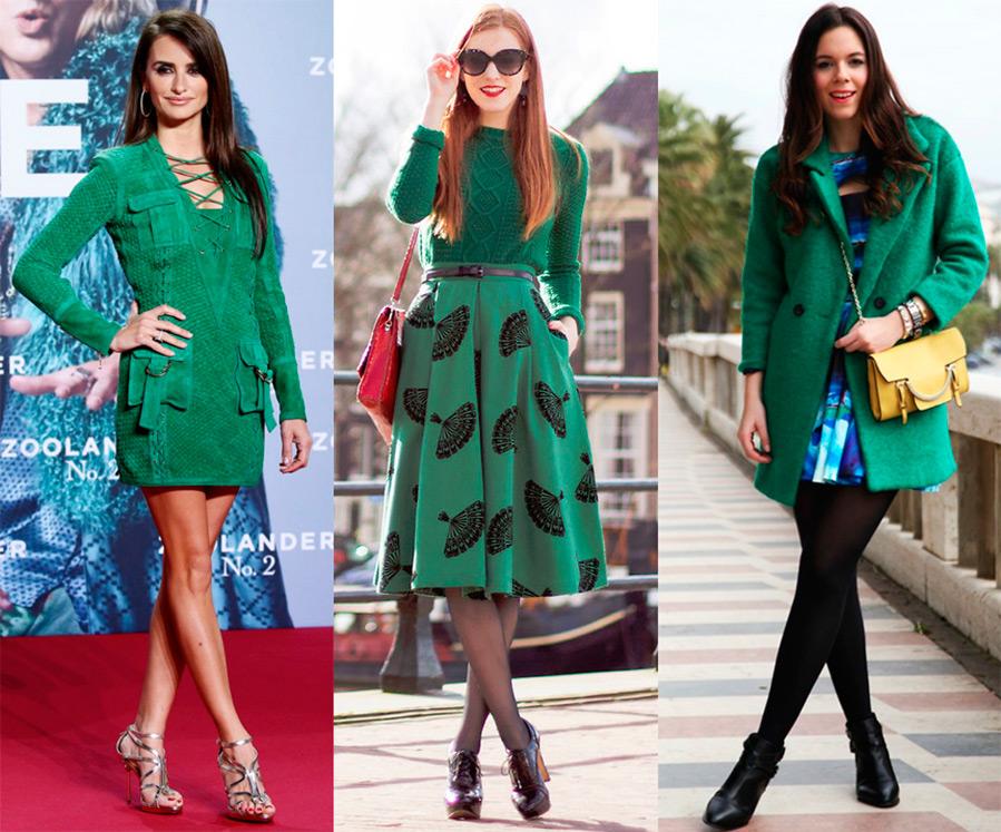 Темно-зеленый цвет – с чем сочетается, кому идет и как носить?