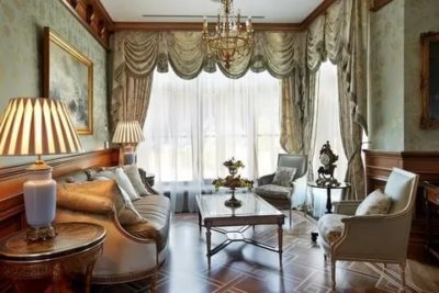 Английские шторы в интерьере кухни и гостиной: декор окон в лондонском стиле