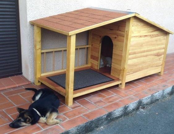 чертеж будки для собаки с размерами