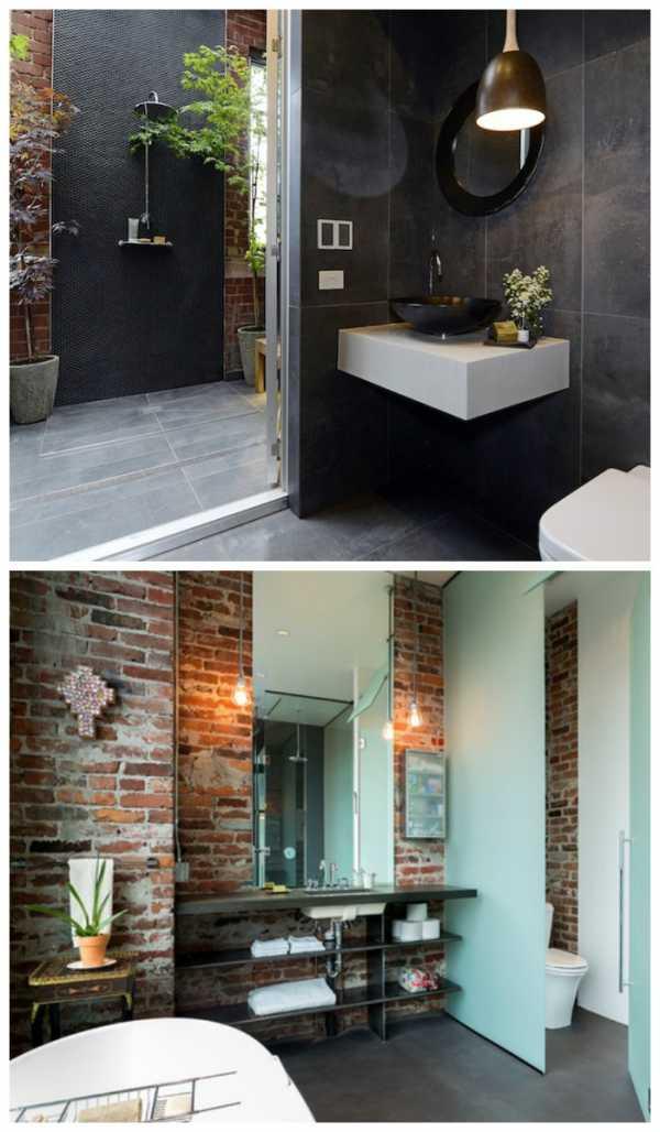 Ванна комната в стиле лофт: промышленный дизайн своими руками (+ фото)