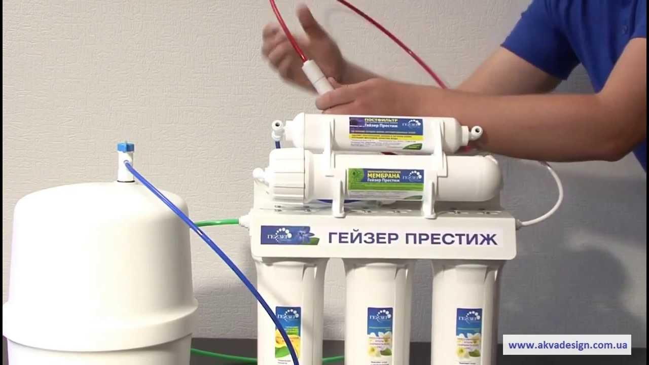 замена фильтров гейзер