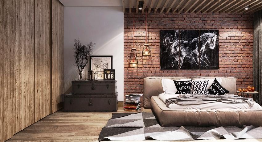 Гостиная в стиле лофт - 70 фото, дизайн интерьеров