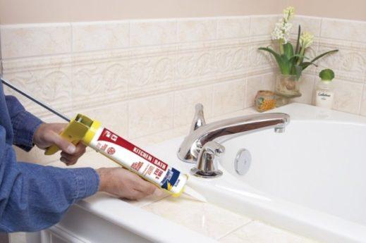 Санитарный силиконовый герметик (белый, прозрачный): свойства, выбор, советы
