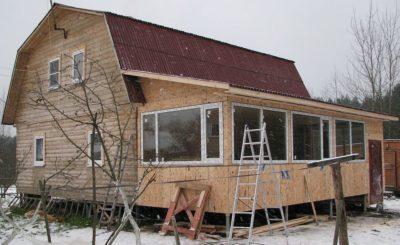 построить веранду к дому своими руками