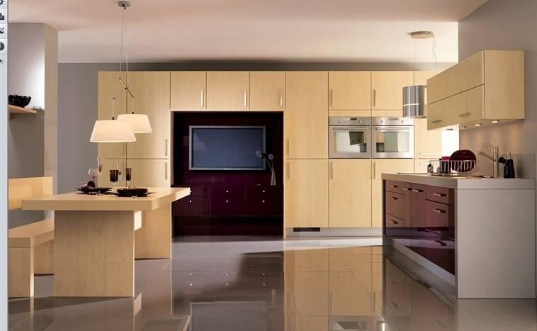 Телевизор в интерьере кухни: особенности размещения, где расположить, полезные советы, фото.