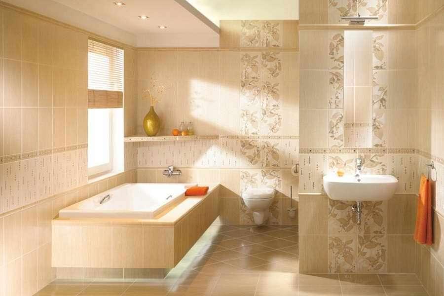 Варианты укладки плитки в ванной, дизайн
