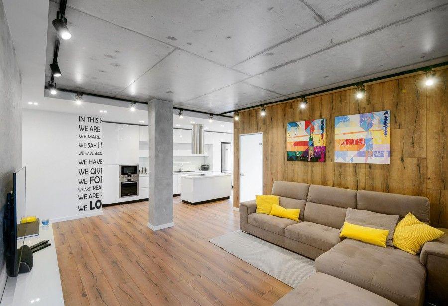 Потолок в стиле «лофт» (41 фото): как сделать своими руками в квартире на бетонной потолочной поверхности и как выбрать варианты лофт-потолка для мансарды частного дома