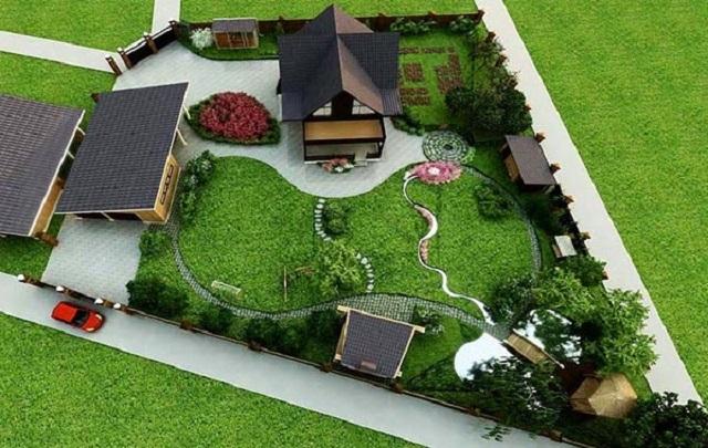 ландшафтный дизайн садового участка 6