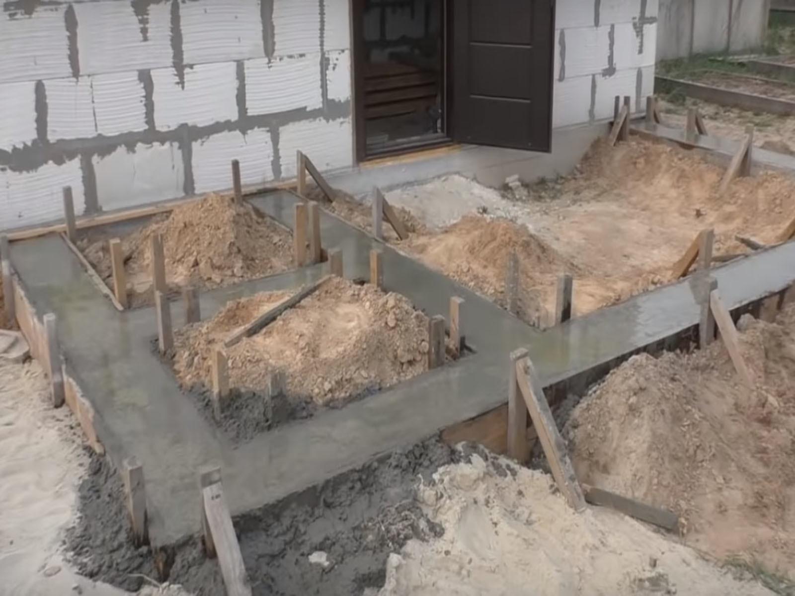Какой требуется фундамент под террасу