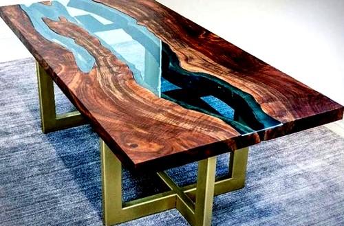 заливные столы из эпоксидной смолы