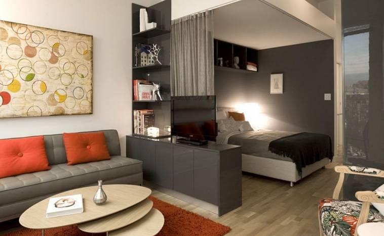 Гостиная, спальня и рабочий кабинет: дизайн комнаты