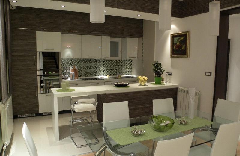 Дизайн кухни-студии +115 фото идей современного интерьера