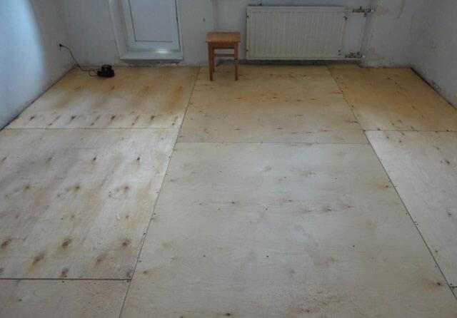 фанера на деревянный пол