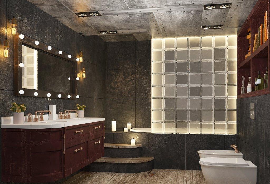 дизайн санузла с ванной