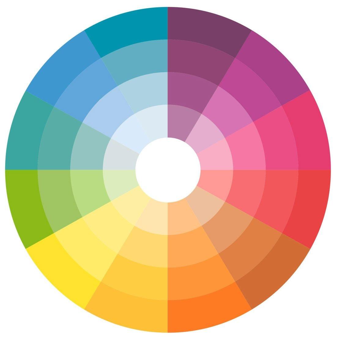сочетание пастельных цветов
