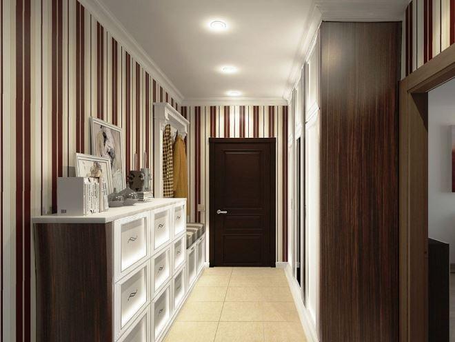 шкаф прихожая в узкий коридор