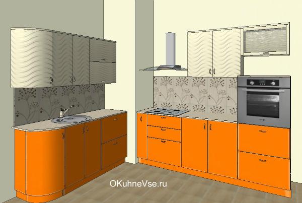 Дизайн кухни с вентиляционным коробом: идеи оформления (50 фото)